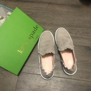 Kate Spade Lilly pull on ruffle shoes
